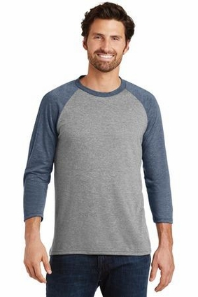 Mens Perfect Tri 3/4-Sleeve Raglan