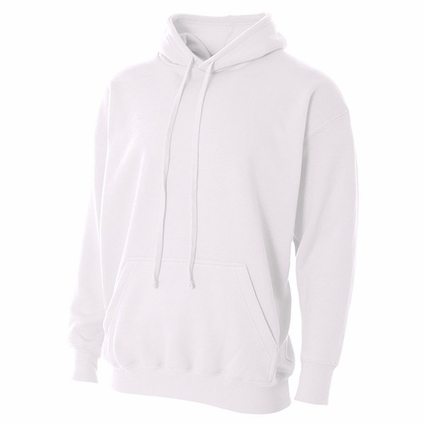 N4231 A4 Adult Combed Ring-Spun Blended CVC Fleece Hooded Sweatshirt
