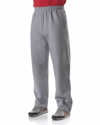 N6189 A4 Adult Combed Ring-Spun Blended CVC Fleece Open Bottom Pant