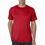 New Balance Men's T-Shirt: 100% Polyester Birdseye Pique Knit Flatback Mesh Tempo Performance (NB9118)