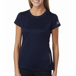 New Balance Women's T-Shirt: 100% Polyester Birdseye Pique Knit Flatback Mesh Tempo Performance (NB9118L)