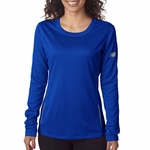 New Balance Women's T-Shirt: 100% Polyester Birdseye Pique Knit Flatback Mesh Tempo Long-Sleeve Performance (NB9119L)