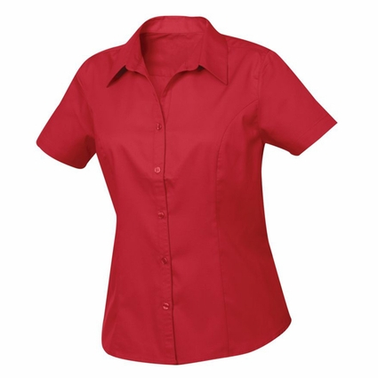 New Wave Plus Size Women's Twill Shirt: 55% cotton, 45% polyester  Short Sleeve (WNW00004)
