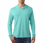 Next Level Men's Sweatshirt: Preshrunk Tri-Blend Long Sleeve Hoodie (6021)