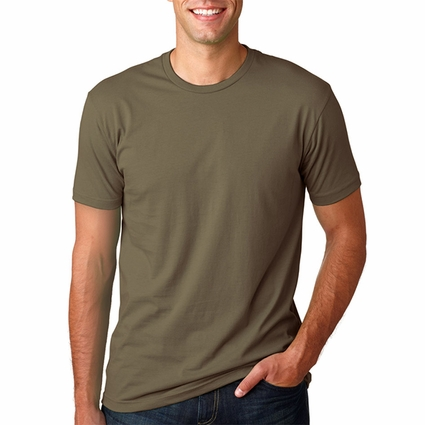 Next Level Men's T-Shirt: 100% Combed Cotton Fine Jersey Fitted Short-Sleeve Crewneck (3600)