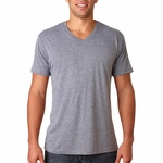 Next Level Men's T-Shirt: Tri-Blend Short Sleeve V-Neck (6040)