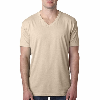 Next Level Men's T-Shirt: Combed Cotton/Poly Jersey Blend Short Sleeve V-Neck (6240)