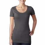 Next Level Women's T-Shirt: 100% Cotton Vintage Jersey Short Sleeve Scoop Neck (3530)