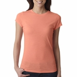 Next Level Women's T-Shirt: Poly/Cotton Sheer Jersey Blend Short Sleeve Crewneck (6000L)