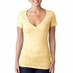 Next Level Women's T-Shirt: Poly/Cotton Jersey Short Sleeve Deep V-Neck (6540)