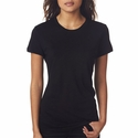 Next Level Women's T-Shirt: Slub Combed Cotton/Poly Short Sleeve Crewneck (6810)