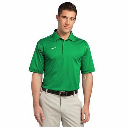 Nike Men's Polo Shirt: 100% Polyester Sport Swoosh Pique (443119)