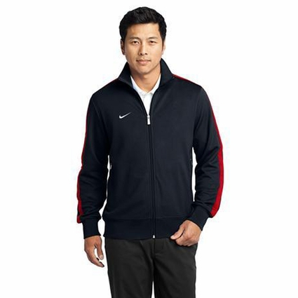 Nike Men's Track Jacket: N98 Double Pique with Piping (483550)
