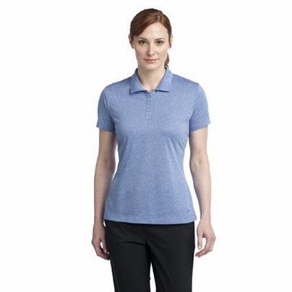 Nike Women's Polo Shirt: Heather 3 Button Dri-FIT (474455)