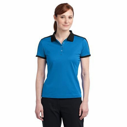 Nike Women's Polo Shirt: N98 Dri-FIT Color Block Moisture Wicking (474238)