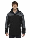 Men's 3-in-1 Seam-Sealed Mid-Length Jacket with Piping: (88052)
