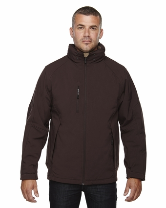 Men's Glacier Insulated Three-Layer Fleece Bonded Soft Shell Jacket with Detachable Hood: (88159)