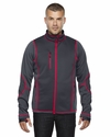 Men's Pulse Textured Bonded Fleece Jacket with Print: (88681)