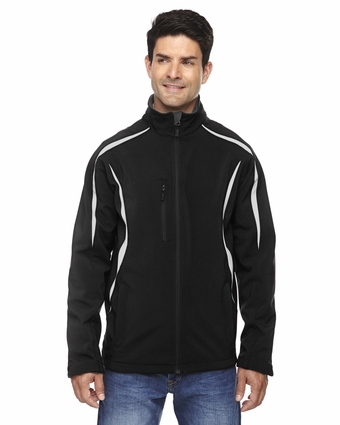 Men's Enzo Colorblocked Three-Layer Fleece Bonded Soft Shell Jacket: (88650)