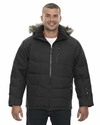 Men's Boreal Down Jacket with Faux Fur Trim: (88179)