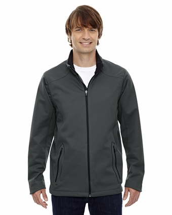 Men's Splice Three-Layer Light Bonded Soft Shell Jacket with Laser Welding: (88655)