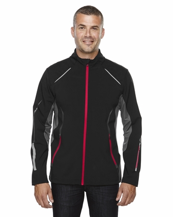 Men's Pursuit Three-Layer Light Bonded Hybrid Soft Shell Jacket with Laser Perforation: (88678)