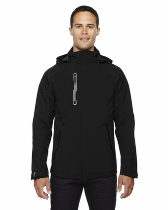 Men's Axis Soft Shell Jacket with Print Graphic Accents: (88665)