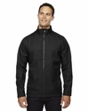 Men's City Textured Three-Layer Fleece Bonded Soft Shell Jacket: (88171)