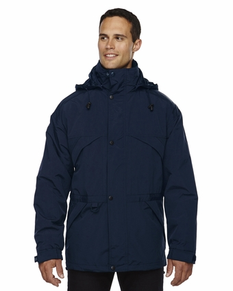 Men's 3-in-1 Parka with Dobby Trim: (88007)