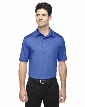 Men's Maze Performance Stretch Embossed Print Polo: (88659)