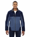 Men's Compass Colorblock Three-Layer Fleece Bonded Soft Shell Jacket: (88156)