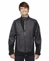 Men's Commute Three-Layer Light Bonded Two-Tone Soft Shell Jacket with Heat Reflect Technology: (88686)