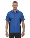 Men's Fuse Colorblock Twill Shirt: (87042)