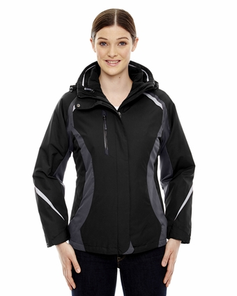 Ladies' Height 3-in-1 Jacket with Insulated Liner: (78195)