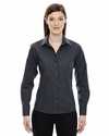 Ladies' Boardwalk Wrinkle-Free Two-Ply 80's Cotton Striped Tape Shirt: (78674)