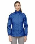 North End Women's Jacket: Hooded Full-Zip Lightweight w/ Reflective Piping (78185)