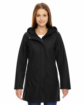 Ladies' City Textured Three-Layer Fleece Bonded Soft Shell Jacket: (78171)