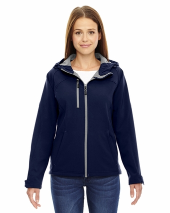 Ladies' Prospect Two-Layer Fleece Bonded Soft Shell Hooded Jacket: (78166)