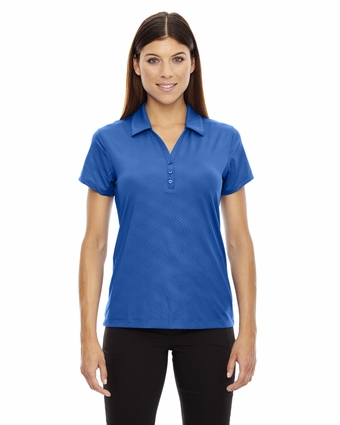 Ladies' Maze Performance Stretch Embossed Print Polo: (78659)