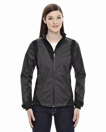 Ladies' Commute Three-Layer Light Bonded Two-Tone Soft Shell Jacket with Heat Reflect Technology: (78686)