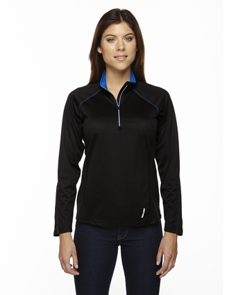 Ladies' Radar Half-Zip Performance Long-Sleeve Top: (78187)