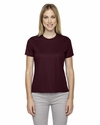 North End Women's T-Shirt: 100% Polyester Athletic Crewneck (78182)