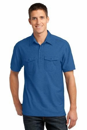Oxford Pique Double Pocket Polo