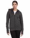 Ladies' Performance Fleece Full-Zip Hoodie with Runner's Thumb: (W4010)