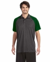 Men's Performance Three-Button Raglan Polo: (M1829)