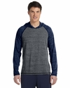 Men's Performance Triblend Long-Sleeve Hooded Pullover: (M3101)