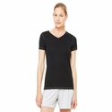 Ladies' Performance Triblend Short-Sleeve V-Neck T-Shirt: (W1105)