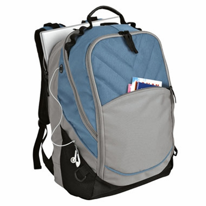 Port Authority Backpack:  Xcape Poly Pocketed with Padded Laptop Compartment (BG100)