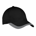 Port Authority Cap: 100% Cotton Contrast Stripe Sandwich Bill (C867)