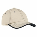 Port Authority Cap: 100% Cotton Vintage Washed Contrast Stitch (C835)